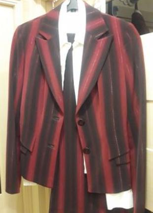 Костюм брючный белорусский трикотаж 3-ка брюки, пиджак, блузка