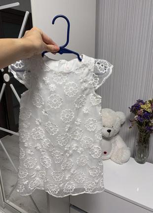 Нарядное праздничное белое платье кружево🌸🌸🌸