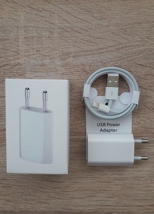 Зарядное устройство Apple iPhone 5W и Кабель Lightning to Usb