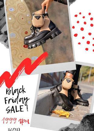 Black friday до 30.11🔥женские демисезонные ботинки в стиле pra...
