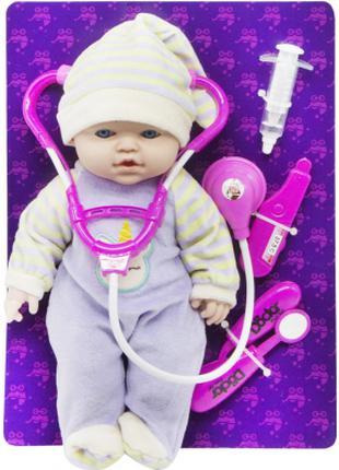 """Кукла-пупс с докторским набором """"Малыш"""""""
