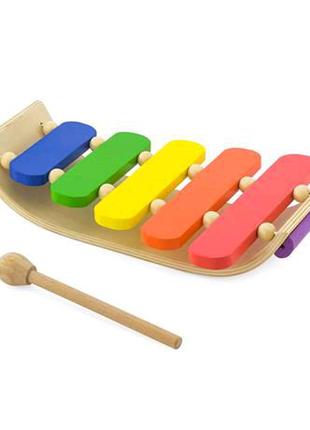 Музыкальная игрушка Деревянный ксилофон, 5 тонов