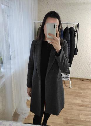 Пальто шерстянное mango