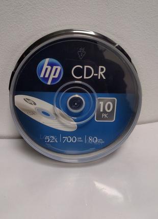 Чистые диски CD-R HP cake 52x 10 шт. Product of Taiwan