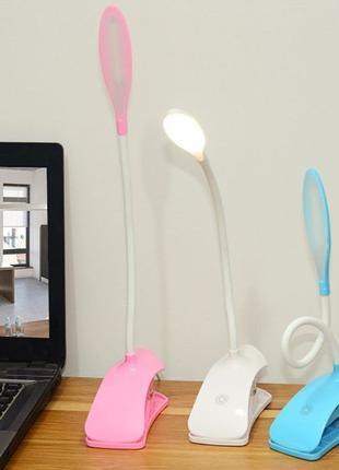 Светодиодная Сенсорная настольная LED USB лампа на прищепке Св...