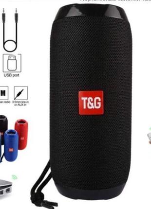 Мощная, басистая Портативная Bluetooth колонка T&G TG-117. Лучшая