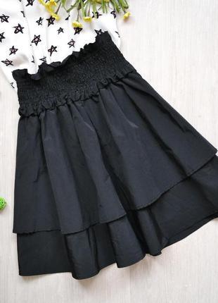 Шикарная пышная юбка высокая посадка с широкой резинкой reserved