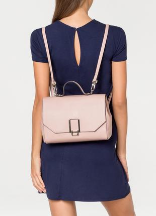Новый кожаный рюкзак coccinelle пудра оригинал сумка