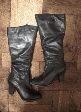 ❤️натурально кожаные сапоги ботинки зима  зимние