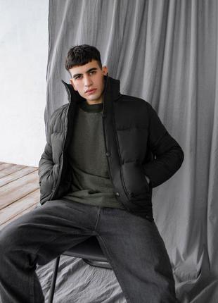 Крутая мужская зимняя куртка на искусственном пуху