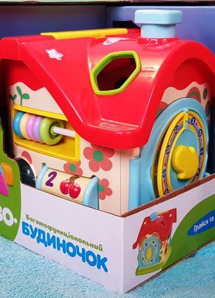 Развивающая игрушка Теремок 0001 домик, логика, сортер