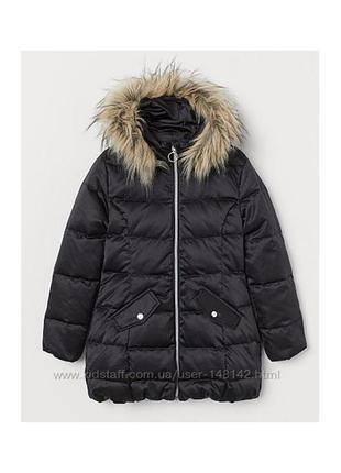 Зимня куртка пуховик h&m премиум 10-11 лет
