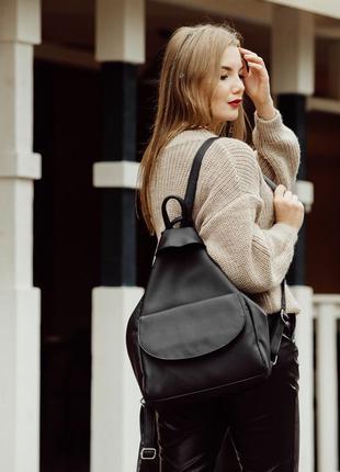 Чорний рюкзак Sambag з колекції Brix