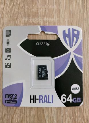 Карта пам'яті/memory flash/Флеш пам'ять/micro sd 64GB 10 class