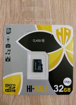 Карта пам'яті/memory flash/Флеш пам'ять/micro sd 32GB 10 class