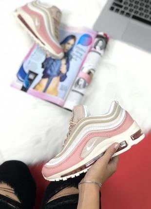 Женские розовые кроссовки nike air max 97 36 37 38 39 40 размер