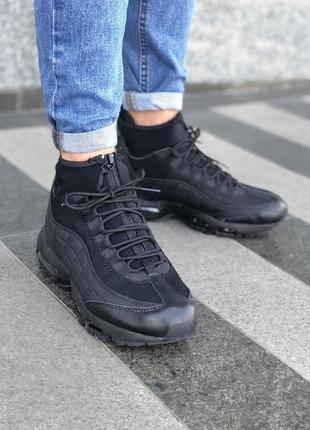 Черные мужские кроссовки nike air max sneakerboot 41 42 43 44 ...
