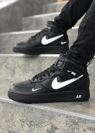 Черные мужские кроссовки nike air force 41 42 43 44 45 размер