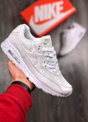 Белые мужские кроссовки nike air max 90 41 42 43 44 45 размер