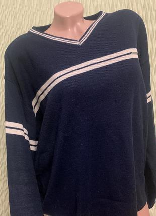 Синий мужской свитер джемпер размер 2 хл matinee