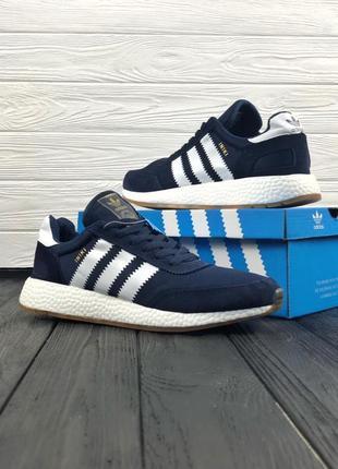 Синие мужские кроссовки adidas iniki