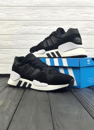 Черные мужские кроссовки adidas eqt support