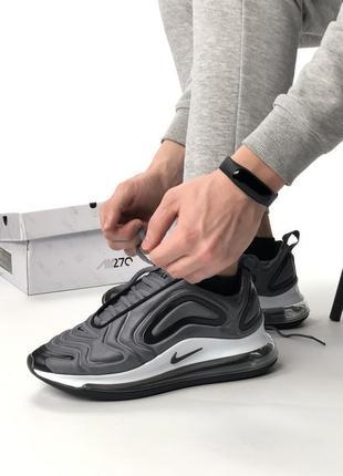 Серые мужские кроссовки nike air max 270