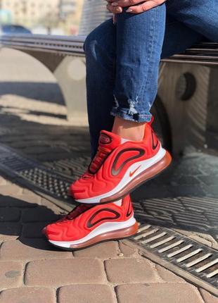 Женские красные кроссовки nike air max 720