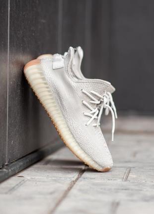 Мужские бежевые кроссовки adidas yeezy boost 350