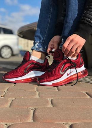 Бордовые женские кроссовки nike air max 720