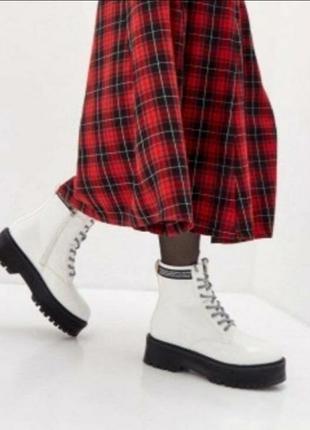 Ботинки зима в стиле dr.martiens