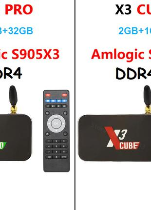 Ugoos X3 Cube 2/16/X3 Pro 4/32 DDR4 Android 9.0(TOX1 x96max+)