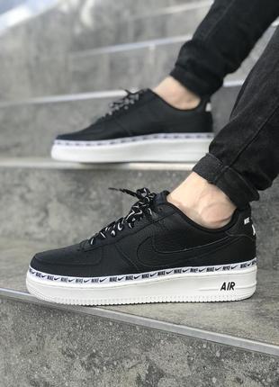Черные кроссовки унисекс nike air force 1 '07 se