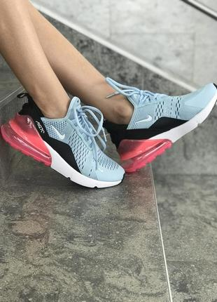 Женские бирюзовые кроссовки nike air max 270