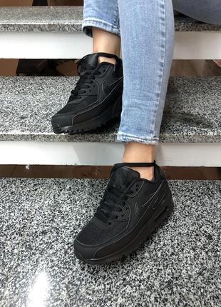 Черные женские кроссовки nike air max 90
