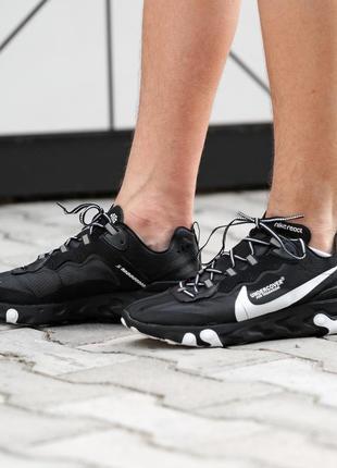 Мужские черные кроссовки nike react element black