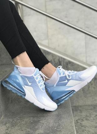 Женские кроссовки голубого цвета nike air max 270