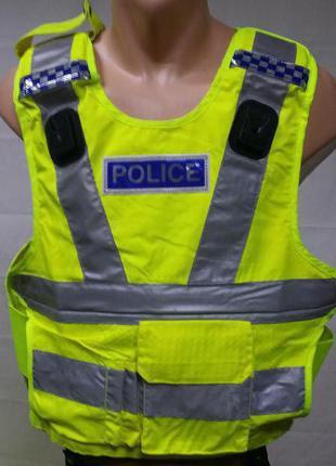 Чехол(жилет) светоотражающий   полиции Великобритании Оригинал