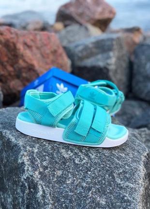 Женские голубые мятные сандалии босоножки adidas adelette