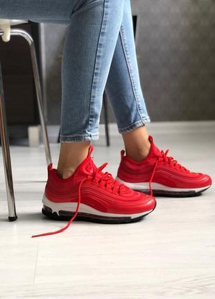 Красные женские кроссовки nike air max 97 ultra red