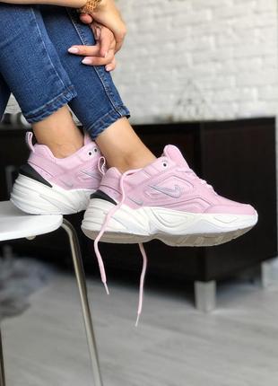 Розовые женские кроссовки nike m2k tekno