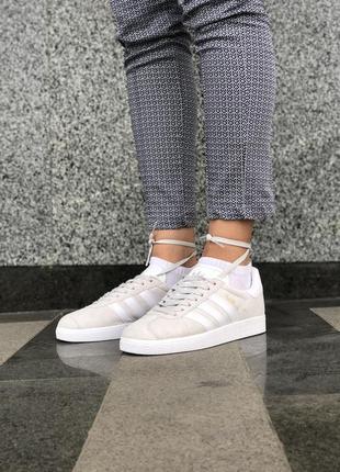 Серые женские кроссовки adidas gazelle