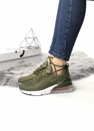 Женские кроссовки nike air max 270 цвета хаки