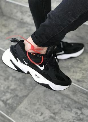 Мужские черные кроссовки nike m2 tekno