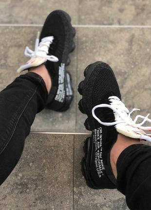 Мужские черные кроссовки nike air vapormax off white