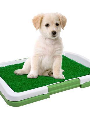 Туалет для собак Puppy Potty Pad 47х34х6 лоток для щенков горшок