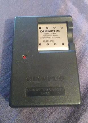 Зарядное устройство LI-40C, LI-41C (LI-42B) Olympus + аккумулятор