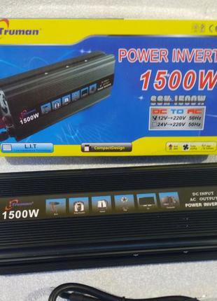 Преобразователь напряжения инвертор 12-220 SSK-1500W