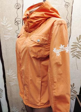 Pocopiano яркая ветровка, демисезонная куртка с капюшоном