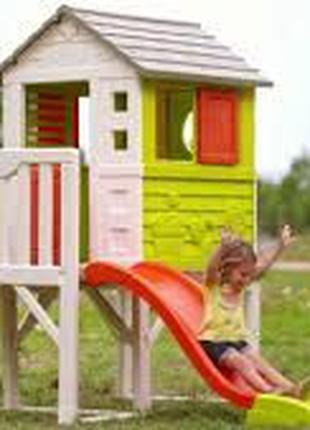 Детский Игровой домик на опорах с горкой Smoby 810800